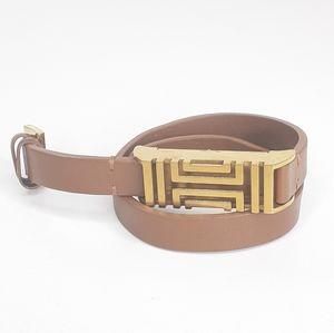 Tory Burch Leather Fitbit Wrap Around Bracelet